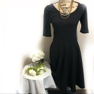 LulaRoe black dress